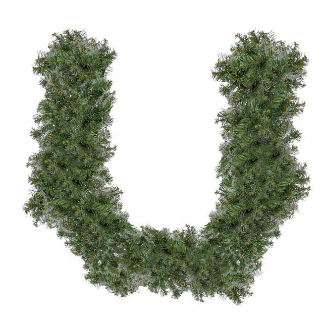 christmas garlands normandy pine christmas garland green 270cm - Green Christmas Garland