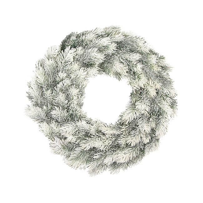 Christmas Wreath - Snowy Pine Christmas Wreath White (45cm)