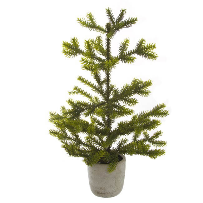 Decorative Christmas Trees - Christmas Tree Nordic Pine Cement Pot (46cmH)