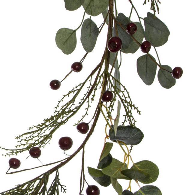 Christmas Garlands - Eucalyptus Pine Mix Christmas Garland Red Gum Nut (150cm)