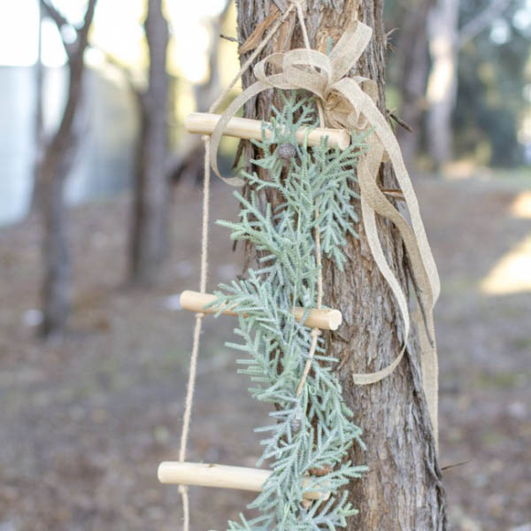 Christmas Ornaments - Wooden Rope Ladder Natural (43x150cm)