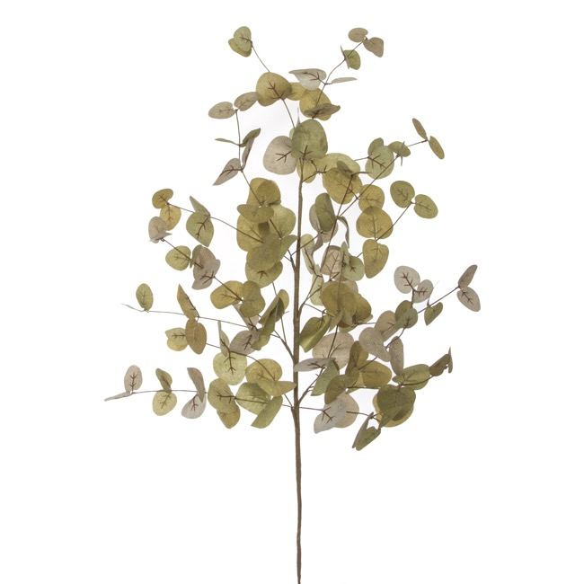 Artificial Leaves and Branches - Eucalyptus Dollar Gum Spray Green (90cm)