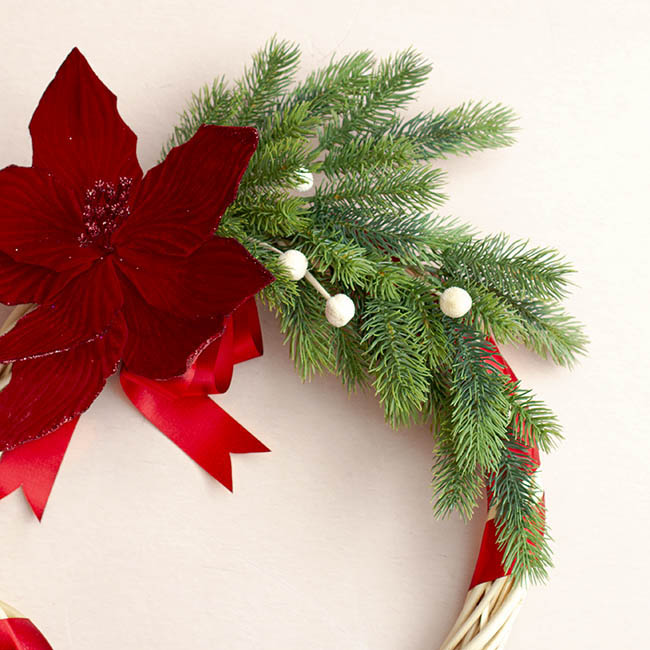 Christmas Flowers - Canadian Pine Spray Real Touch Green (65cmH)