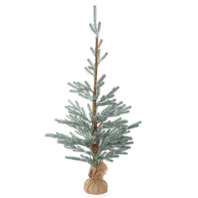 Artificial Christmas Trees - Aspen Blue Pine Burlap Wrapped Real Touch Blue (120cmH)