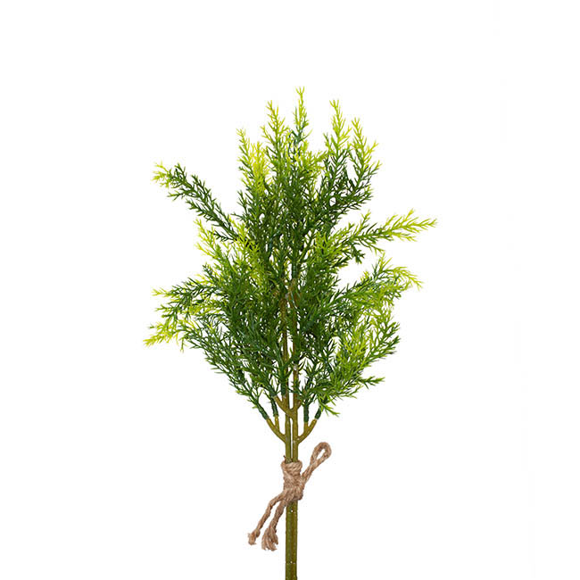Christmas Flowers - Cypress Pine Branch Real Touch Set 2 Green (38cmH)