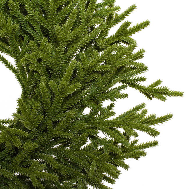 Christmas Wreath - Norway Spruce Pine Wreath Real Touch Green (35cmD)