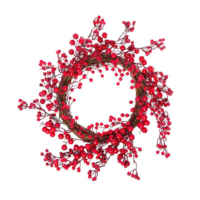 Luscious Large Berry Wreath Red (60cmD)