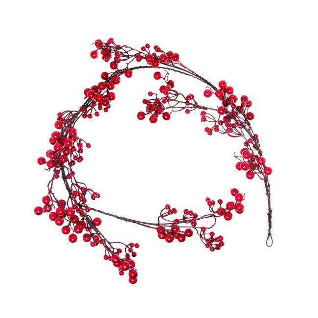 Luscious Large Berry Garland Red (150cm)