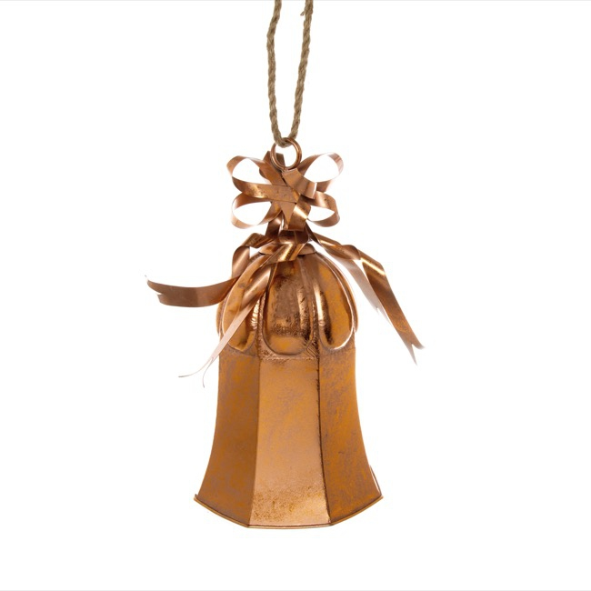 Large Metal Bell Decoration Copper (25x25x47cmH)
