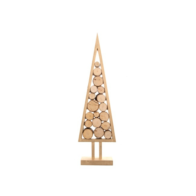 Wooden Tree Log Decoration Natural (12x5x42cmH)