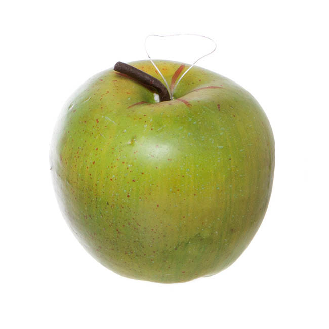 Artificial Granny Smith Apples 3 Pack Large Green (12cmD)