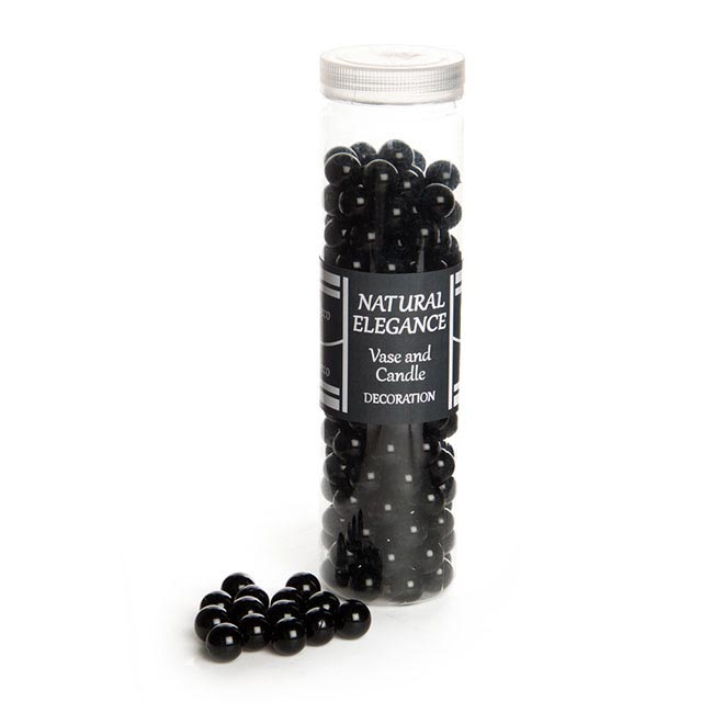 Glass Marbles - Glass Marbles (14mm) Opal Black 650gm Jar