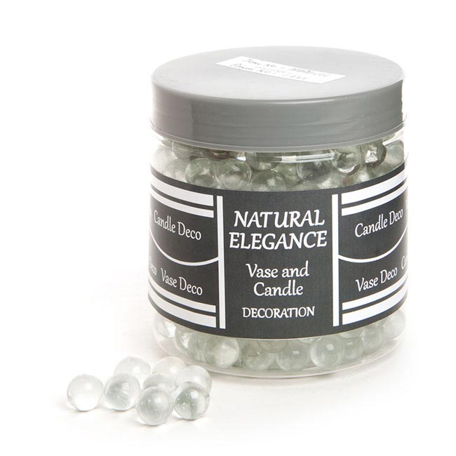 Glass Marbles Clear (14mm) 1.2KG Jar Clear