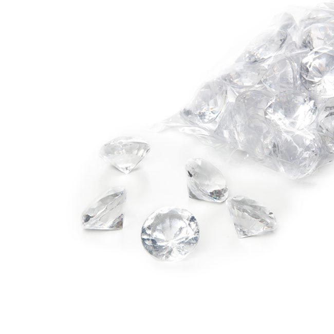 Acrylic Rocks - Acrylic Diamond Scatters Small Clear (18mm) 400g Bag