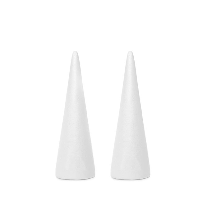 Polystyrene Cone 2 pack (D11x32cmH)