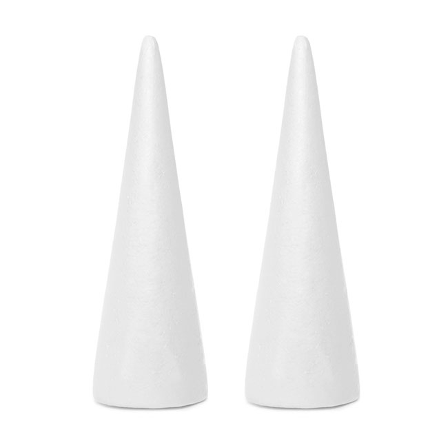 Polystyrene Cone 2 Pack (D12x40cmH)