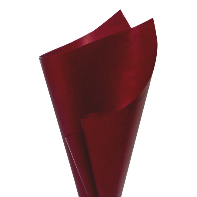 Regal Pearl Wrap Pattern - Cello Regal Pro Fleck 65mic Blood Red (50x70cm) Pack 100