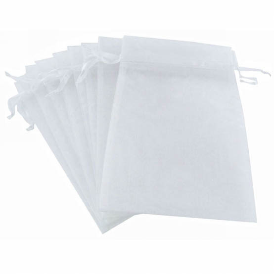 Organza Bags - Organza Bag Large White (15x24cmH) Pack 10