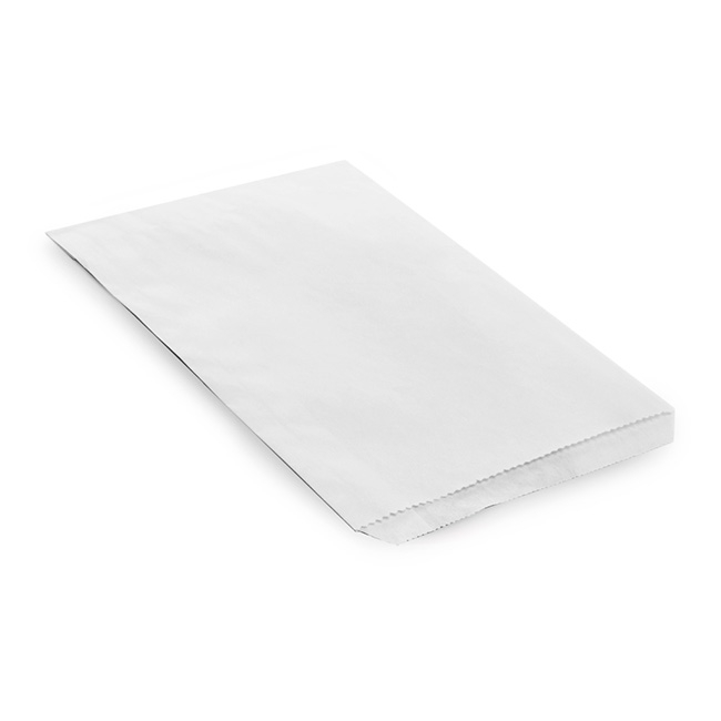 Party & Food Bags - Flat Paper Bag White (150x190mmH)