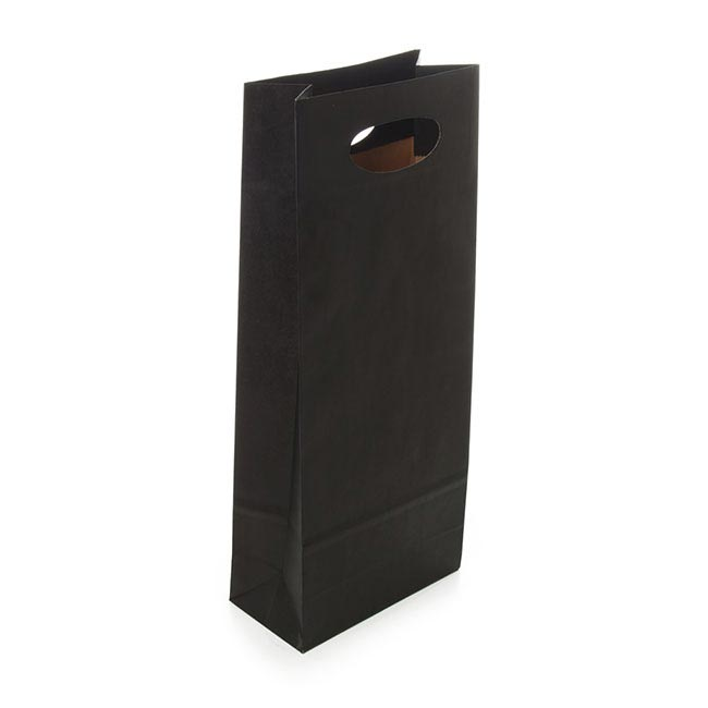 Wine Gift Bags - Wine Bottle Bag Double Kraft Paper Black (17Wx9Gx42cmH)