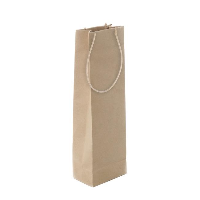 Wine Bottle Bag Single Kraft Paper 11wx7gx35cmh