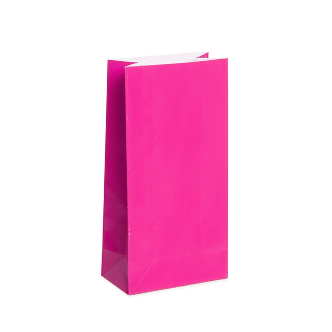 Lolly Bag Small 25 Pack Hot Pink (18cmHx9x5)