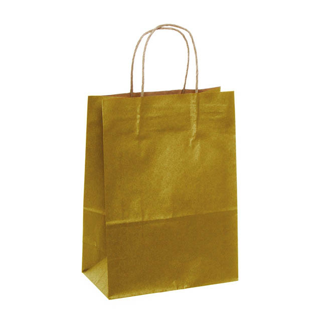 Kraft Paper Bag Large Gold (275mmHx205x110)