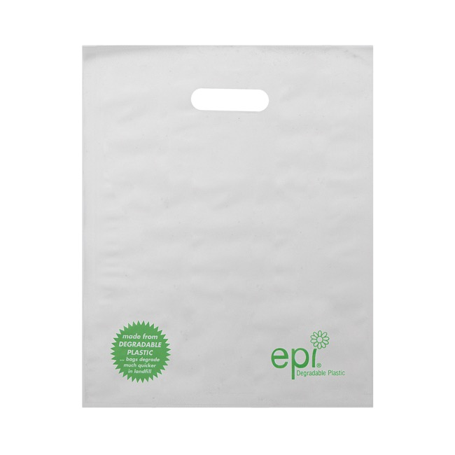 Reusable Shopping Bags - Frosted Degradable Bag Epi Large (355x75x520mmH) Pack 100