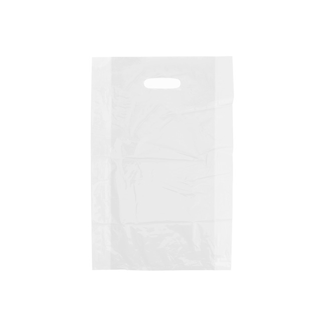 Plastic Bag Frosted Die Cut Handle White 38Hx25cmW S