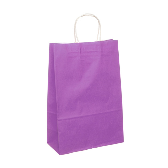 Kraft Paper Bag Extra Large Purple (355mmHx240x120)