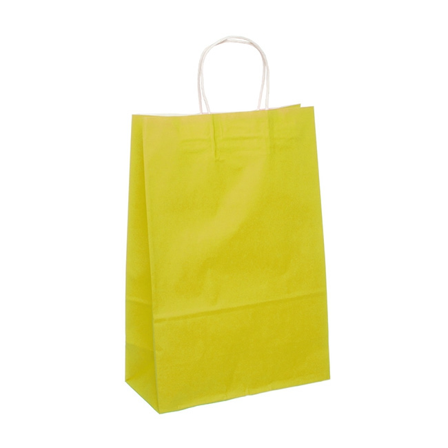 Kraft Paper Bag Extra Large Yellow (355mmHx240x120)