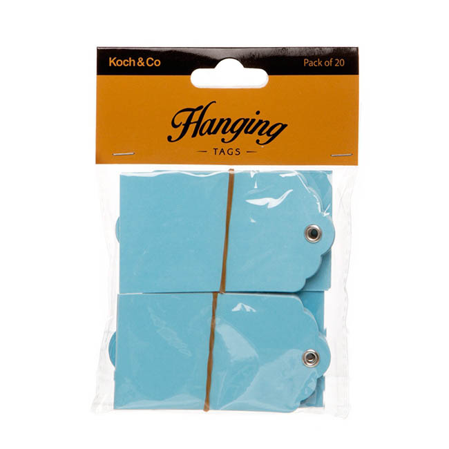 Hanging Gift Tags 5x9cmH Pack 20 Baby Blue