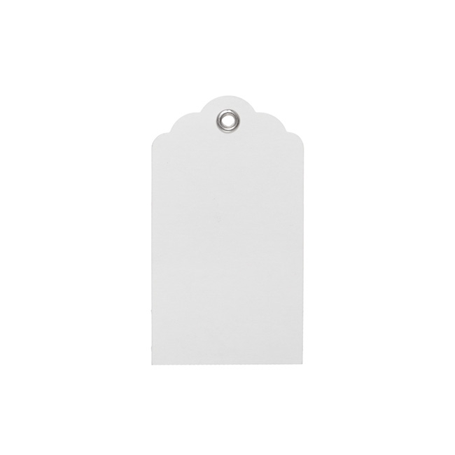Gift Tags & Labels - Hanging Gift Tags Kraft White (5x9cmH) Pack 20