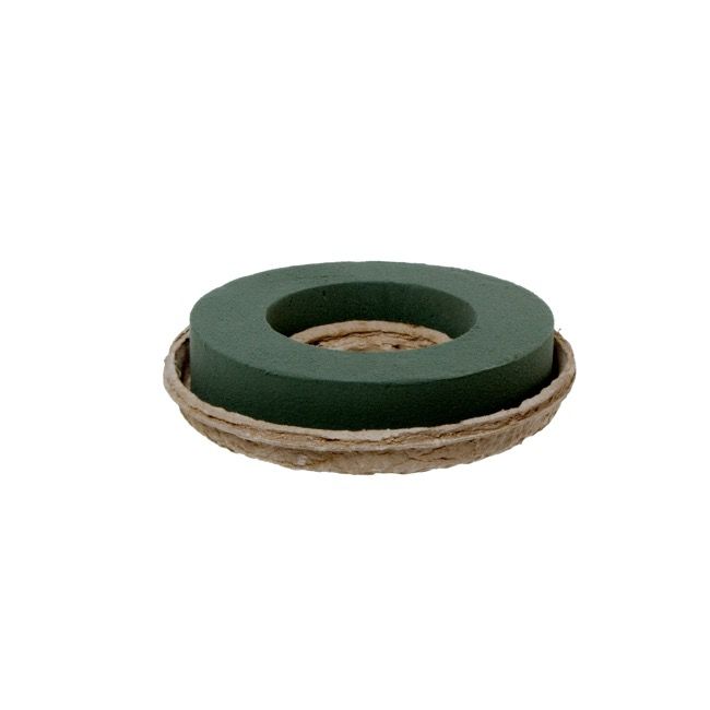Foam Wreath Open Ring with Paper Mache Tray 2 Pack (17cmD)