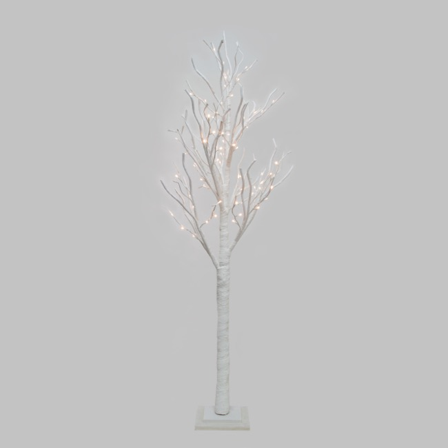 LED Twist Tree 78 Lights Pure White (180cmH)