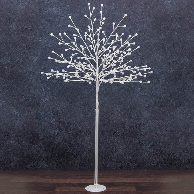LED Decorations - LED Tree 200 Globe Lights Cool White Glow 240V White (1.5mH)