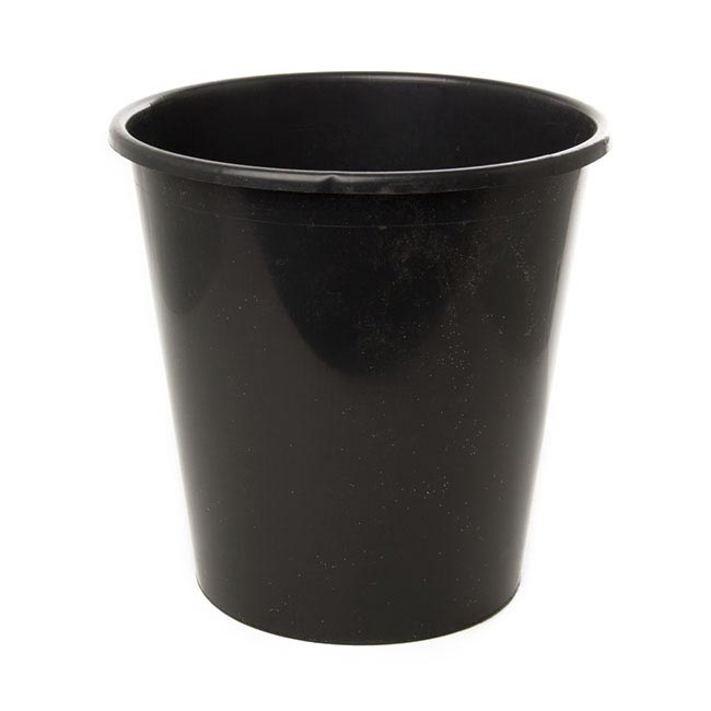 Flower Bucket Plastic Round 13L 29Dx36cmH Black