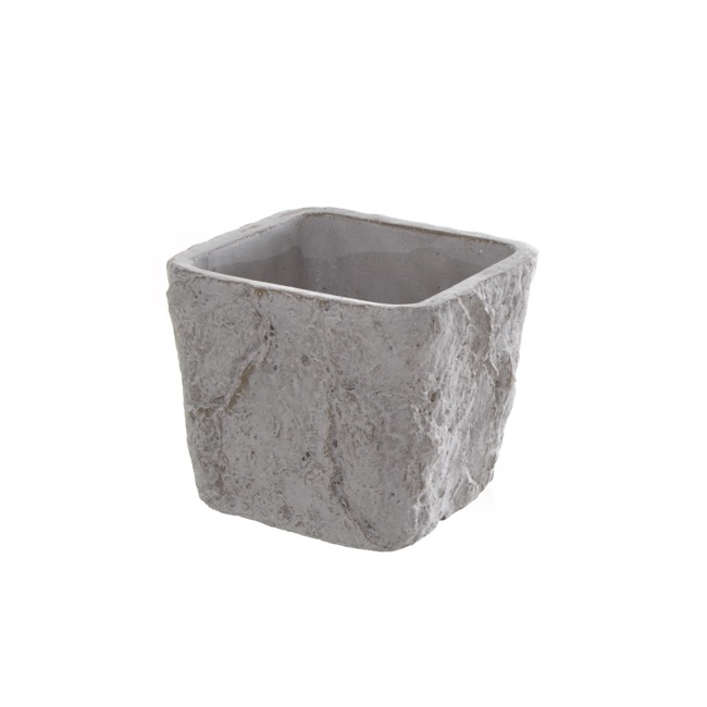 Cement Metro Pot Square Grey (13.5x13.5x11cmH)