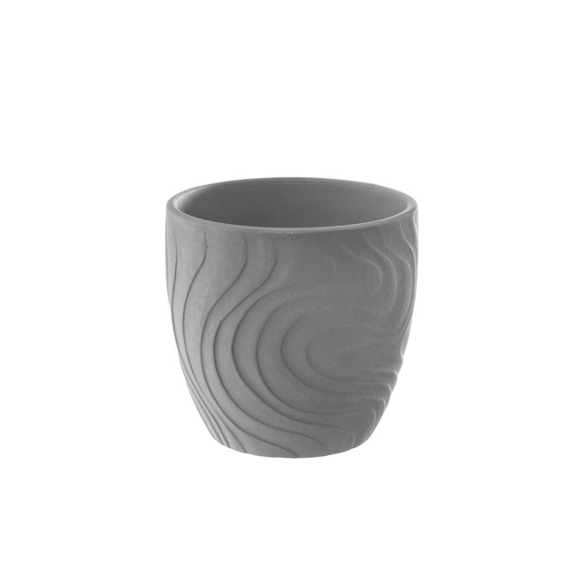 Ceramic Bonnie Pot Matte Grey (15cmDx14cmH)