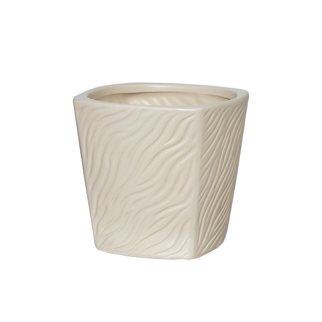 Ceramic Trend Square Taper Pot Cream (14.5cmx14cmH)