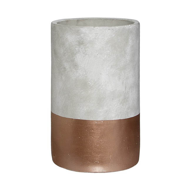 Cement Boston Cylinder Vase Rose Gold 15cmdx25cmh