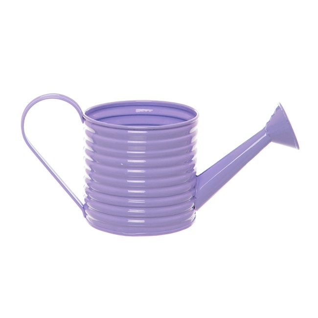 Country Tin Metal Watering Can Lavender (11Dx11cmH)