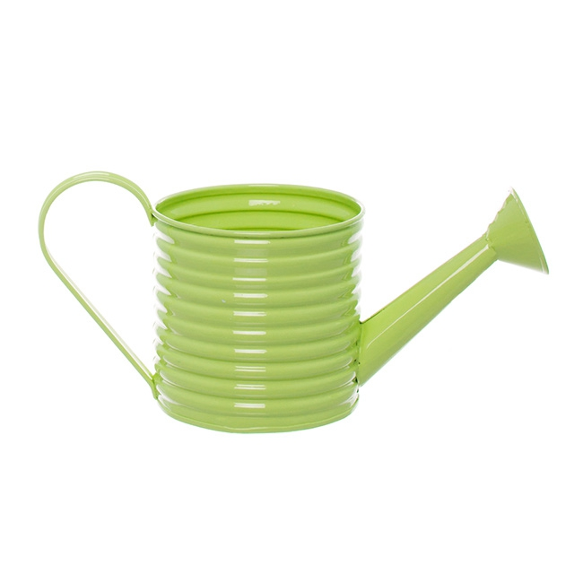 Country Tin Metal Watering Can Lime (11Dx11cmH)