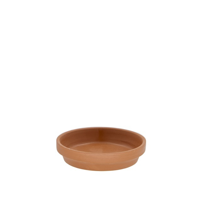 Terracotta Pots - Terracotta Pot Brown with Plate (13cmDx13cmH)