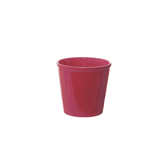 Terracotta Pots - Terracotta Genoa Pot Painted Hot Pink (12x11.5cmH)