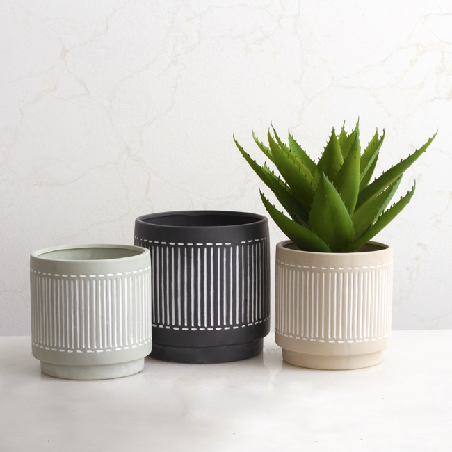 Trend Ceramic Pots - Ceramic Pot Palm Bay Sage (18x18cmH)