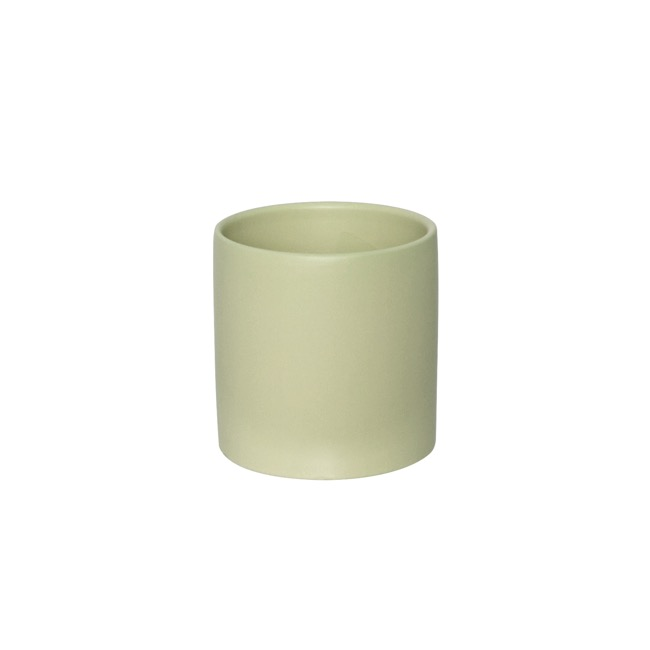 Satin Matte Collection - Ceramic Cylinder Pot Satin Matte Sage (12x12.5cmH)