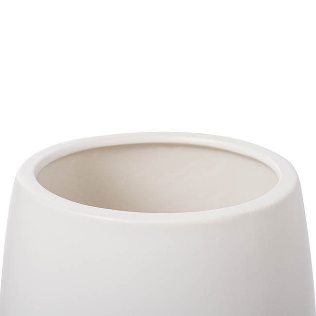 Trend Ceramic Pots - Ceramic Taron Belly Pot Matte White (17.5x20cmH)