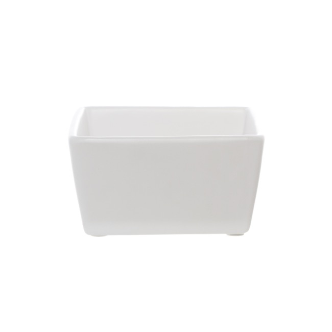 Florist Flower Pots - Ceramic Bondi Low Taper Squ Tray M White (16.5x15.3x8.5cmH)