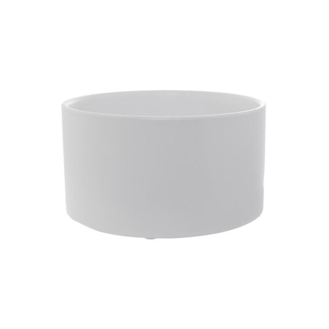 Florist Flower Pots - Ceramic Bondi Low Cylinder Pot (19.5x10.5cmH) Matte White